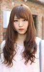 2015 Korean girls hairstyles with long hair and long bang
