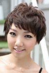 2015 women short hairstyle with full of layers and long layered bang