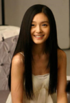 Asian woman healthy long hairstyle straight with long side bangs