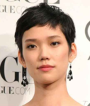 Asian women boyish short hairstyle with spikes