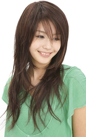 Asian Women Long Hairstyle With Layers Jpg