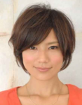 Modern Asian women hairstyle with hot casual haircut with long side bangs