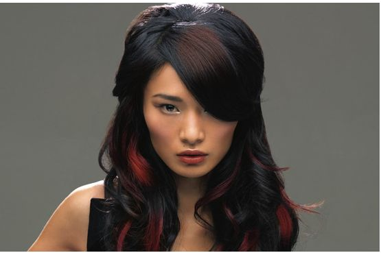 Black And Red Hairstyle. Trendy