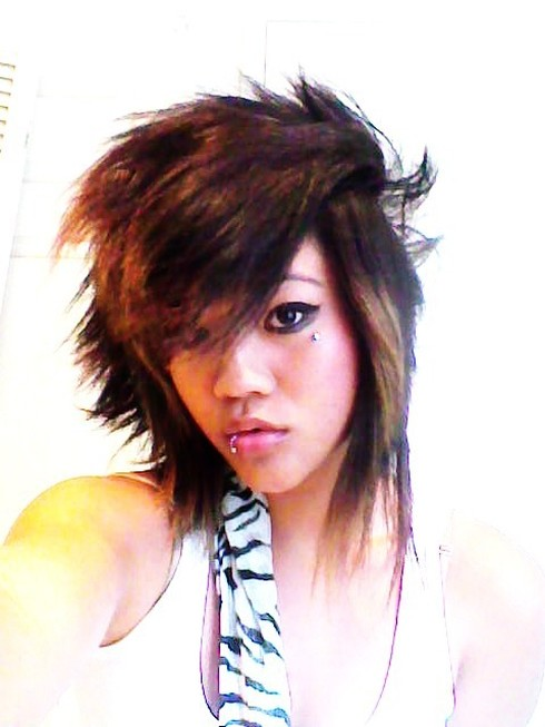 punk haircuts for girls with long hair. image of Asian punk hairstyle