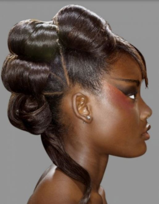 2015 Mohawk Updo Hairstyle For Black Women
