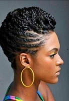 Black Women Natural Twist Hairstyles Photo