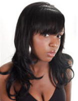 Black teen hairstyle in long length with layers and long bang.PNG