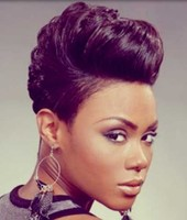 Cool African American hairstyle with high  top hair