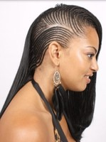 Cornrow braid hair