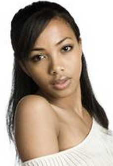 Long African American Teen Hairstyle With Swept Bang And