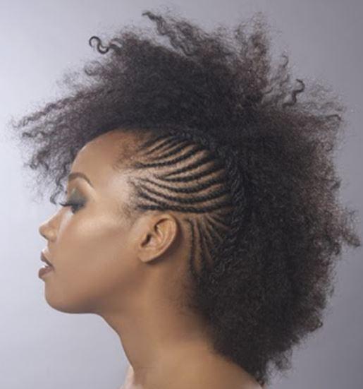 Natural Hair Mohawk Hairstyles Black Women