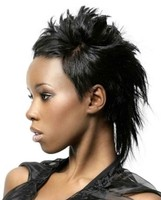 Newest cool black women hairstyl with full layers and long hair in the back and short the sides and front