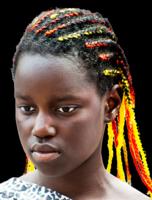 Orange and yellow braids for black women