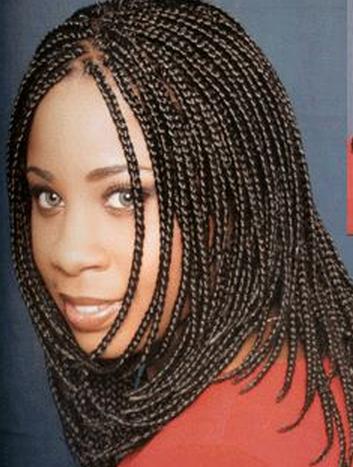 Micro Braid Hairstyles Black Women
