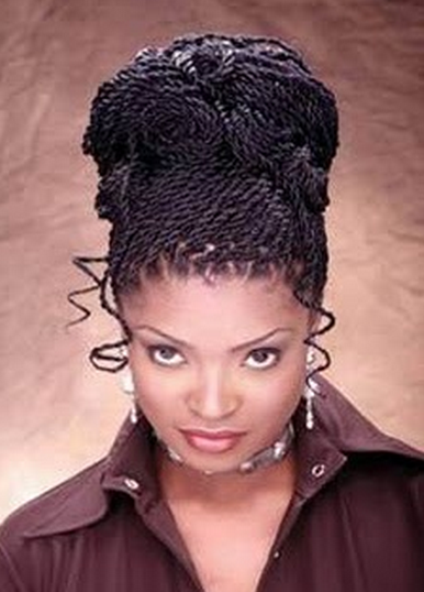 Twist hairstyle for African American women photo