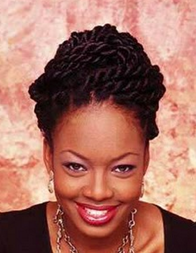 Women twist African American hairstyle photo