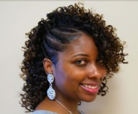 curly black women hair with twist