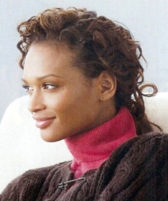 half updo curly African American hairstyle.jpg photo