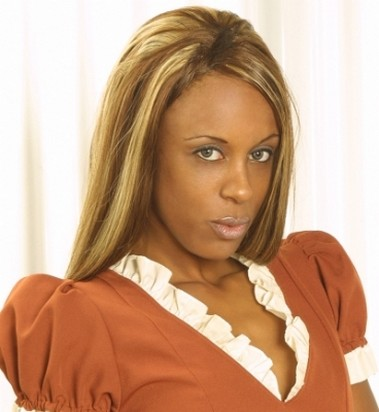 highlighted african american women hairstyle.jpg photo
