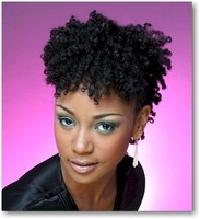 Black woman hairstyle with beautiful top