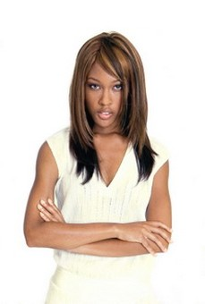 women trendy African American hairstyle.jpg photo