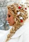 Winter bride hairdo pictures