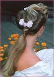 Bridal hairstyle, dark blonde, long