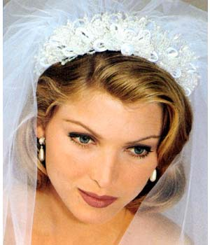 short hair headpieces for short haired brides