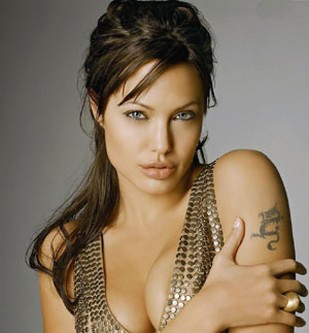 Terrific Angelina Jolie With Half Up Half Down Hairstyle Hairstyles For Women Draintrainus
