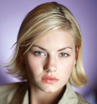 Elisha Cuthbert With Short Haircut With Side Bangs