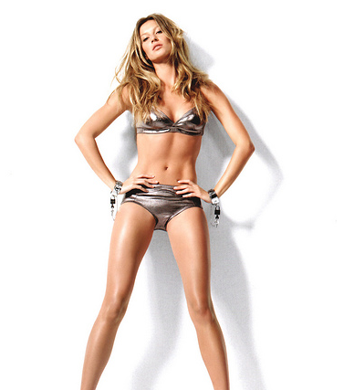 Gisele Bundchen Bikini Poster With Her Long Layered Hairstyle Png