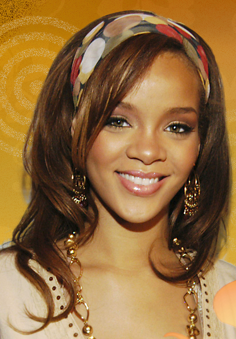 Hot Singers Picture Of Rihanna With Her Long Hair And Very