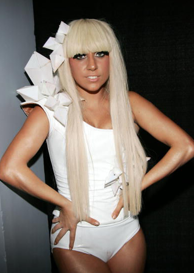 Image Of Lady Gaga In White With Her Very Long Hair.PNG