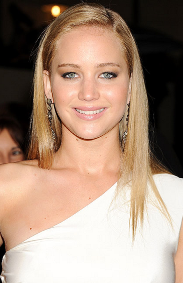 Jennifer Lawrence Pictures With Her Long Straight Hairstyle In Blonde Hair Png