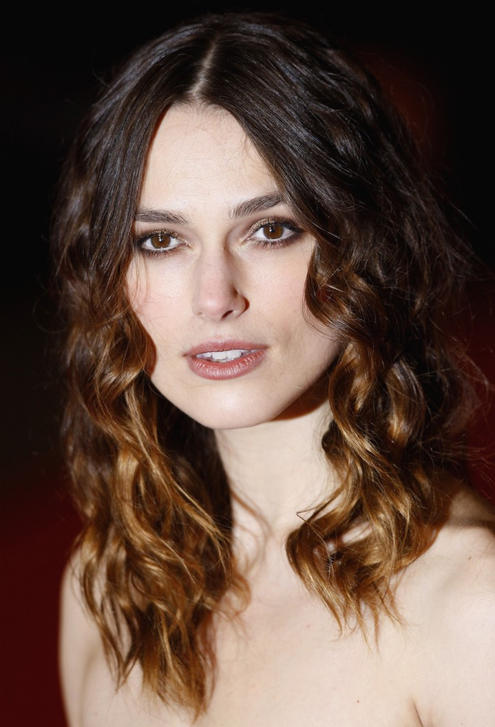 Keira Knightley Curly Hair In Medium Long Length With Side