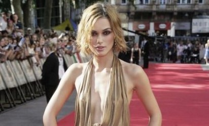 keira knightley with layered bob hairstyle with long side