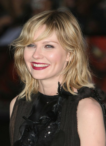 Kirsten Dunst with layered  Kirsten Dunst Medium Hair
