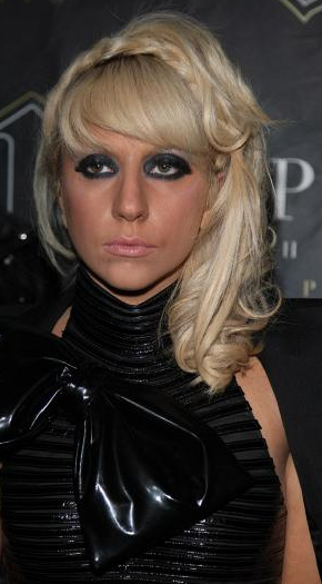 Lady Gaga Image With Her Half Updo With Braids And Long