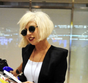 Lady Gaga Normal Look With Cute Bob Hairstyle Png