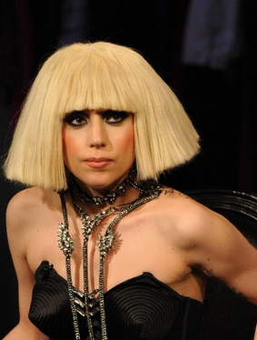 Lady Gaga Photos With Medium Bob Hairstyle With Long Bangs Png