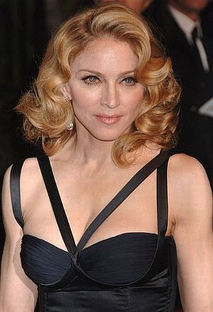 Terrific Madonna With Big Curls Hairstyle Hairstyle Inspiration Daily Dogsangcom