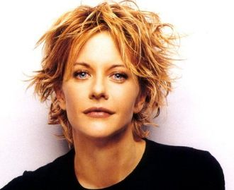 Meg Ryan With Short Messy Short Haircut With Layers And Side Bangs