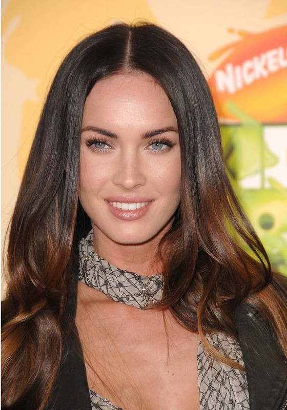 megan fox hair highlights. long haircuts with bangs. long
