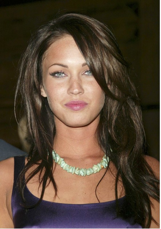 Megan Fox With Long Layered Hairstyle Jpg