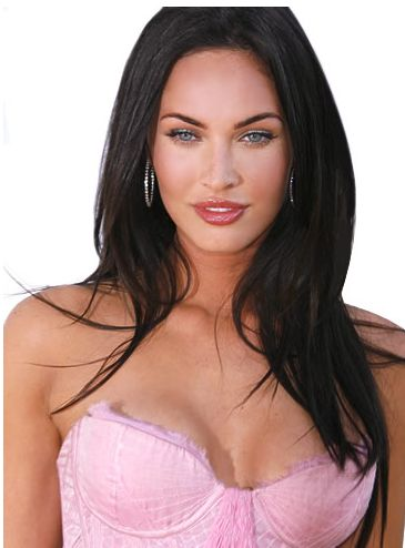 Megan Fox with long straight haircut