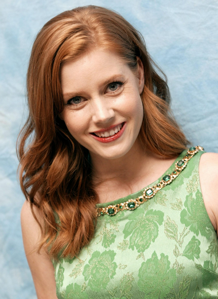 Red Hair Actress Amy Adams With Side Bangs Png