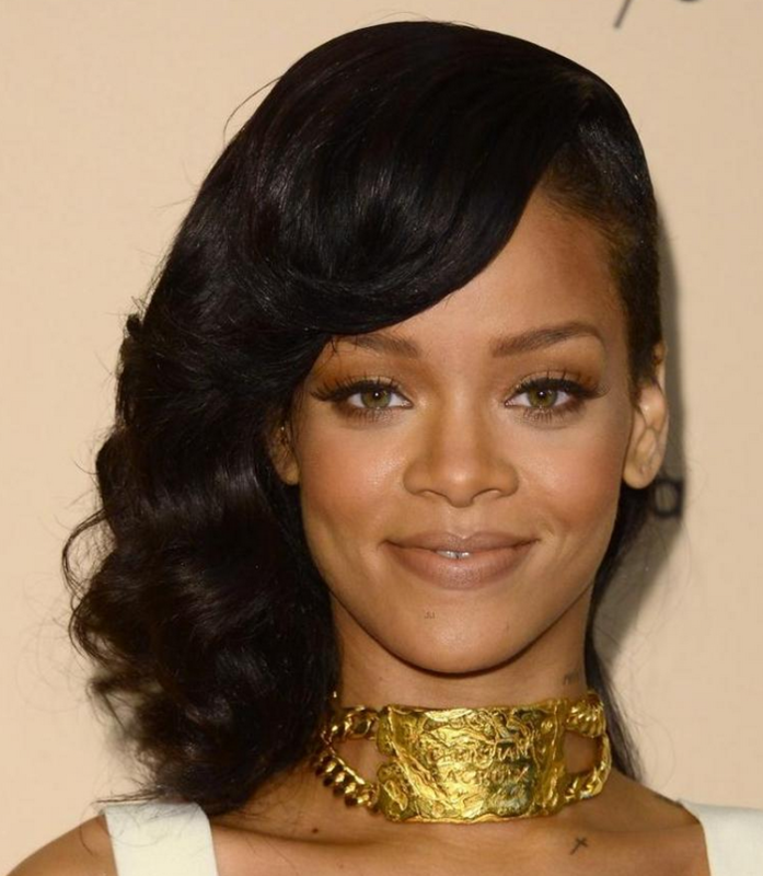 rihanna different hair styles rihanna picture with cool undercut haircut with wavy 6948