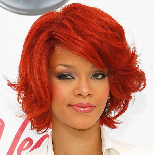 Long Red Hairstyles with Bangs