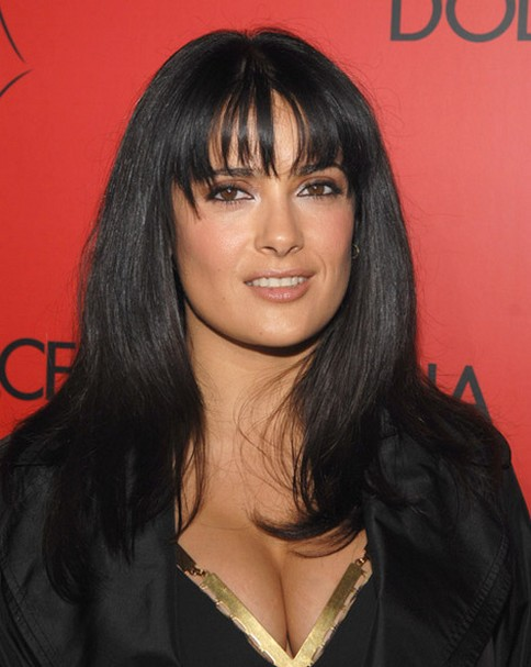 Salma Hayek Hairstyles Raven Loose Curls With Hairpin Pictures