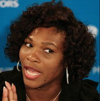 Serena Williams short afro hairstyle